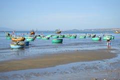 钓鱼海港在美奈 越南 免版税库存图片