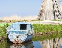 钓鱼海港在Izbica村庄  免版税库存照片