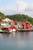 钓鱼海港挪威 免版税库存图片
