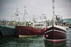 钓鱼海港爱尔兰人拖网渔船 库存图片