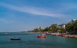 钓鱼海港街道视图  图库摄影