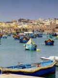 钓鱼海港马耳他 免版税库存照片