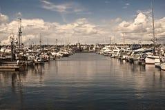 钓鱼海港s西雅图 库存图片