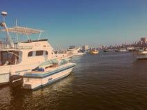 钓鱼游艇的小船 库存照片