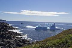 钓鱼点圣安东尼NL的冰山胡同 免版税库存照片
