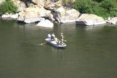 钓鱼的一了不起的天 库存图片