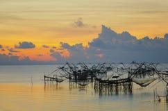 钓鱼的木设备 免版税图库摄影