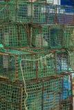 钓鱼的海鲜条板箱 库存图片
