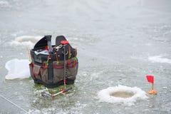 钓鱼的设备 图库摄影
