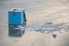 钓鱼的设备 免版税库存照片