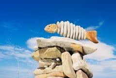 钓鱼石头 免版税库存图片