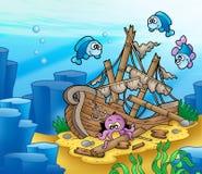 钓鱼章鱼海难 免版税图库摄影