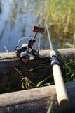 钓鱼竿 库存图片