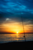 钓鱼竿 图库摄影
