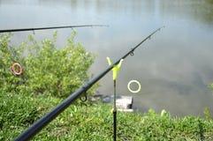 钓鱼竿 免版税库存照片