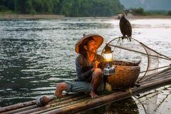 钓鱼老人 库存图片