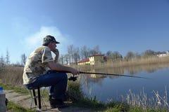 钓鱼者人 免版税库存图片