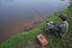 钓鱼者渔夫 库存图片