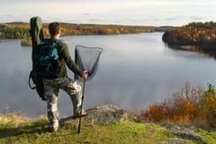 钓鱼者的终点 免版税图库摄影