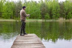 钓鱼者 库存图片