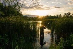 钓鱼者 图库摄影