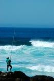 钓鱼者 库存照片