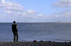 钓鱼者 免版税库存图片