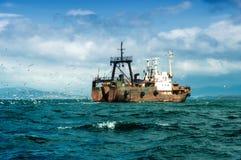 钓鱼船 库存图片