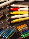 钓鱼被设置的诱剂 免版税库存图片