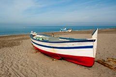 钓鱼西班牙传统的小船 免版税图库摄影