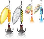 钓鱼诱剂传染媒介例证的套锭床工人 皇族释放例证