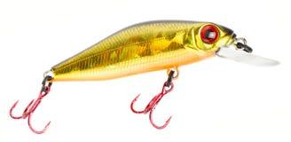 钓鱼诱剂塑料集 免版税库存图片