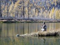 钓鱼飞行 图库摄影