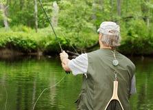 钓鱼飞行 库存图片