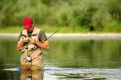 钓鱼飞行 免版税图库摄影