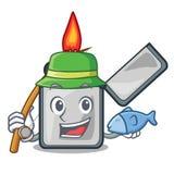 钓鱼香烟打火机隔绝与动画片 皇族释放例证
