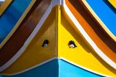 钓鱼马尔他传统的小船 免版税图库摄影