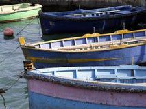 钓鱼马耳他的小船 免版税图库摄影
