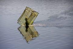 钓鱼马达加斯加人的移动净额的配件箱渔夫 图库摄影