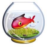 钓鱼fishbowl 库存照片