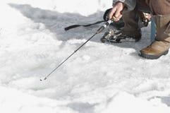 钓鱼II的冰 库存图片