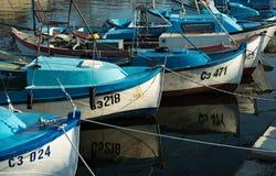 钓鱼sozopol的小船 免版税库存图片