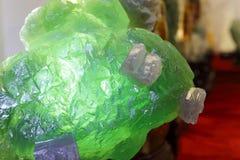 钙氟化物荧石绿色矿物 免版税图库摄影