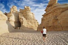 钙质岩石 图库摄影