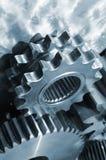 钛齿轮的机械工 库存图片