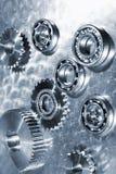 钛滚珠轴承和齿轮 库存照片