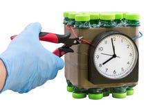 钝化被找到的计时的炸弹 免版税库存照片