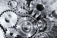 钝齿轮、齿轮和轴承设计 库存图片