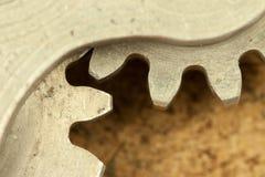 钝齿轮元素片段的特写镜头图象 库存图片
