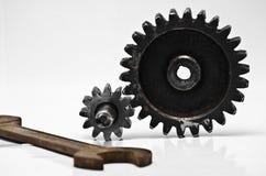 钝齿轮,嵌齿轮,轮子 库存照片